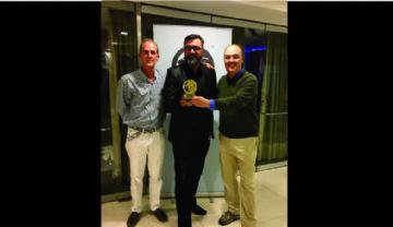 Daniel Borgstrom - LEAG Awards 2016 ,Joaquín Fernández Presas y Juan Fernando Camargo