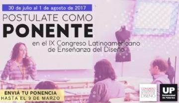 Convocatoria a ponentes  IX Congreso Latinoamericano de Enseñanza del Diseño