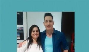 Mariela Lopazzo Directora de Dopler Agencia de Noticias de Diseño junto a Jairo Bonilla músico y compositor colombiano