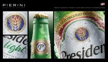 Cerveza Presidente estrena nueva imagen diseñada por Pierini