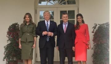 Impacto visual de los presidentes Donald Trump y Mauricio Macri juntos.