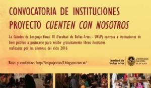 """Convocatoria de Instituciones para proyecto """"Cuenten con nosotros 2016"""""""