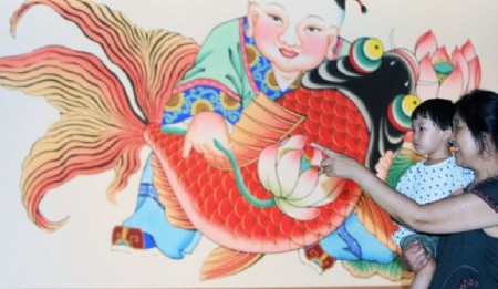 Caligrafía y dibujos del Año Nuevo de Yangliuqing, embajadores de alegría y felicidad
