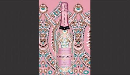 """Nuevo diseño de Pierini para la edición limitada Rosé de """"Chandon India"""""""