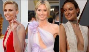 Charlize Theron, Heidi Klum y Olivia Wilde, tres diosas en la alfombra roja.
