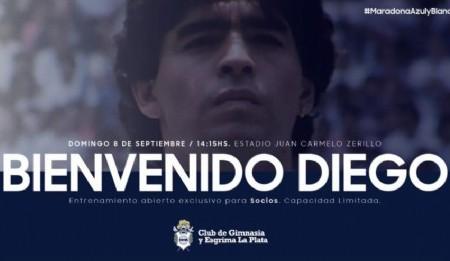 Impacto social con el Primer entrenamiento de Diego Maradona en Gimnasia La Plata