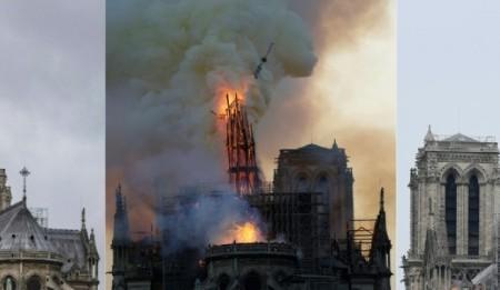Impacto visual del antes y el después del incendio de la Catedral de Notre Dame
