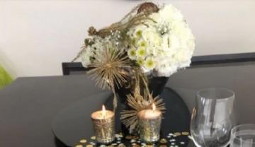 Centros de mesa con arreglos florales, todos los secretos para decorar tu mesa en estas fiestas