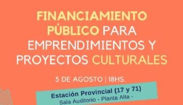 Financiamiento público para emprendimientos y proyectos culturales