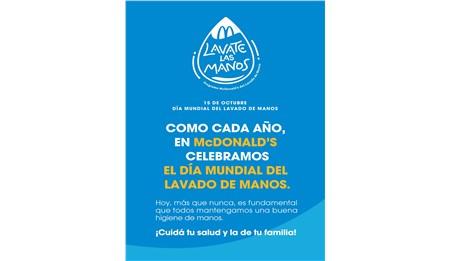 """McDonald's se suma a la celebración del """"Día Mundial del Lavado de Manos"""""""
