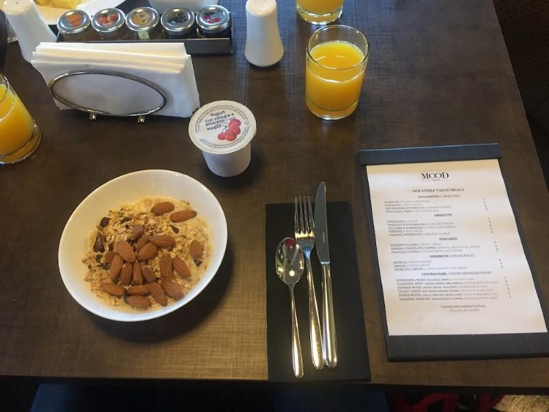 Desayuno diferente en Roma