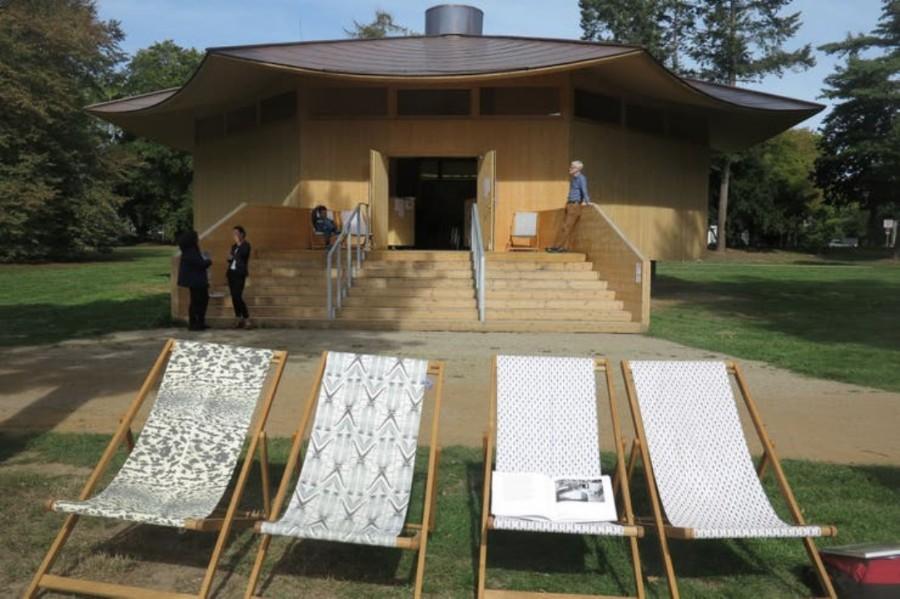 """En el Kaiserpark de Krefeld, una """"escultura"""" arquitectónica temporal, aloja una muestra sobre la Bauhaus"""