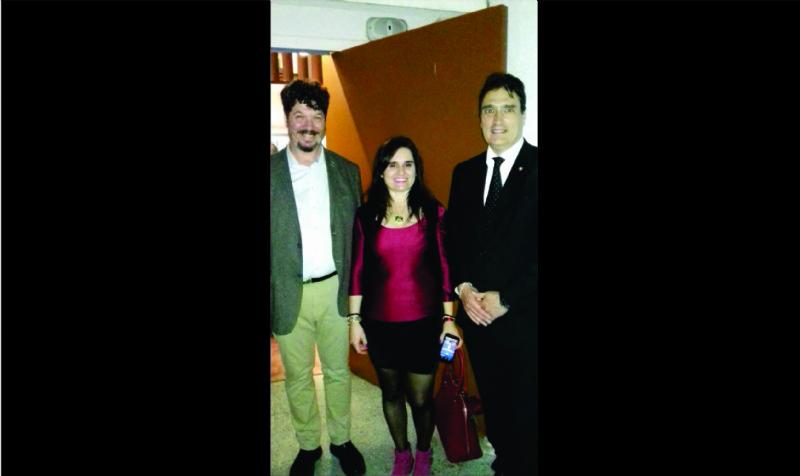 Director  de la Casa Curutchet , Arq. Julio Santana y Embajador de Suiza en Argentina Hanspeter Mock