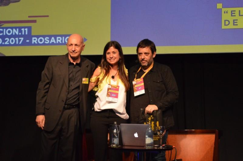 Director de FePI Osvaldo Palena, Marina Fielder y Darío Rial