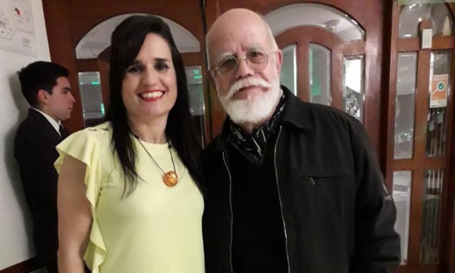 Con el artista platense Ricardo Cohen más conocido como Rocambole. Foto: Dopler . Todos los derechos reservados