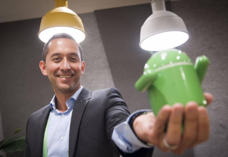 Hiroshi Lockheimer, vicepresidente senior de Google, máximo responsable de Android. JUAN BARBOSA EL PAÍS