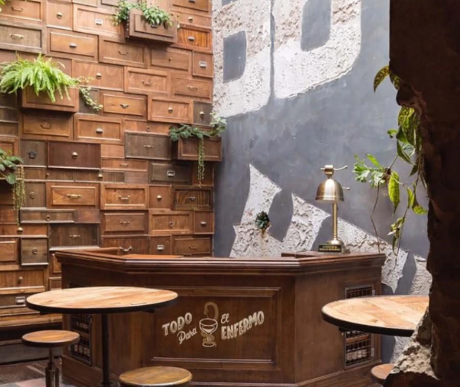 Boticario bar, en Palermo, es una de las obras de mayor repercusión de la carrera de Lucas Ripani.