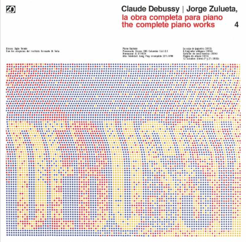 Debussy – «Para las tapas de Debussy, el diseño lo armamos de forma tal de pensar los espacios para los título. Y Distefano hizo la trama un fin de semana –lamento que se haya perdido la máscara de color