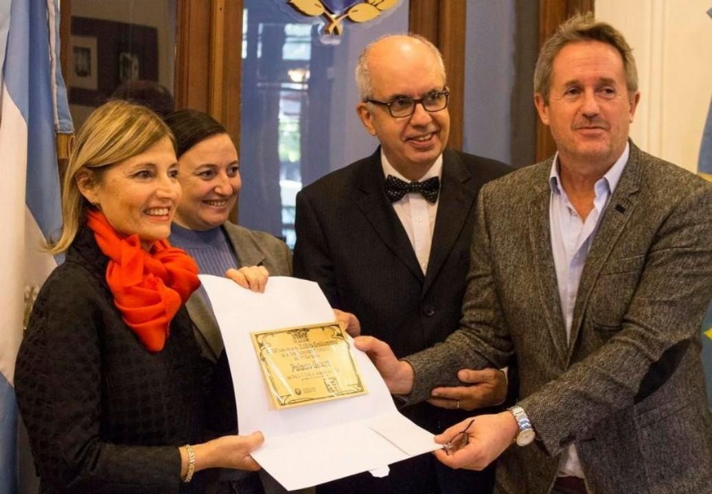 Mercedes Reitano, Ileana Cid, Willy Pastrana y Pedro Delheye. Fotos gentileza Diario El Día