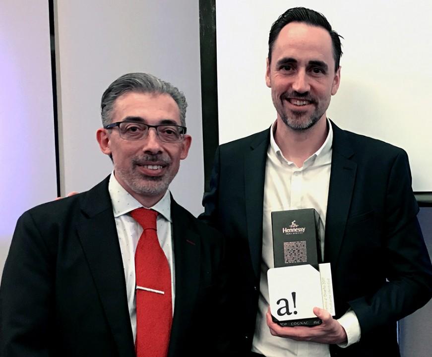 Antonio Pérez Iragorri, Director de la Revista a! Diseño y Carlos García González, Director de la División de Arte, Arquitectura y Diseño de la Universidad de Monterrey, UDEM