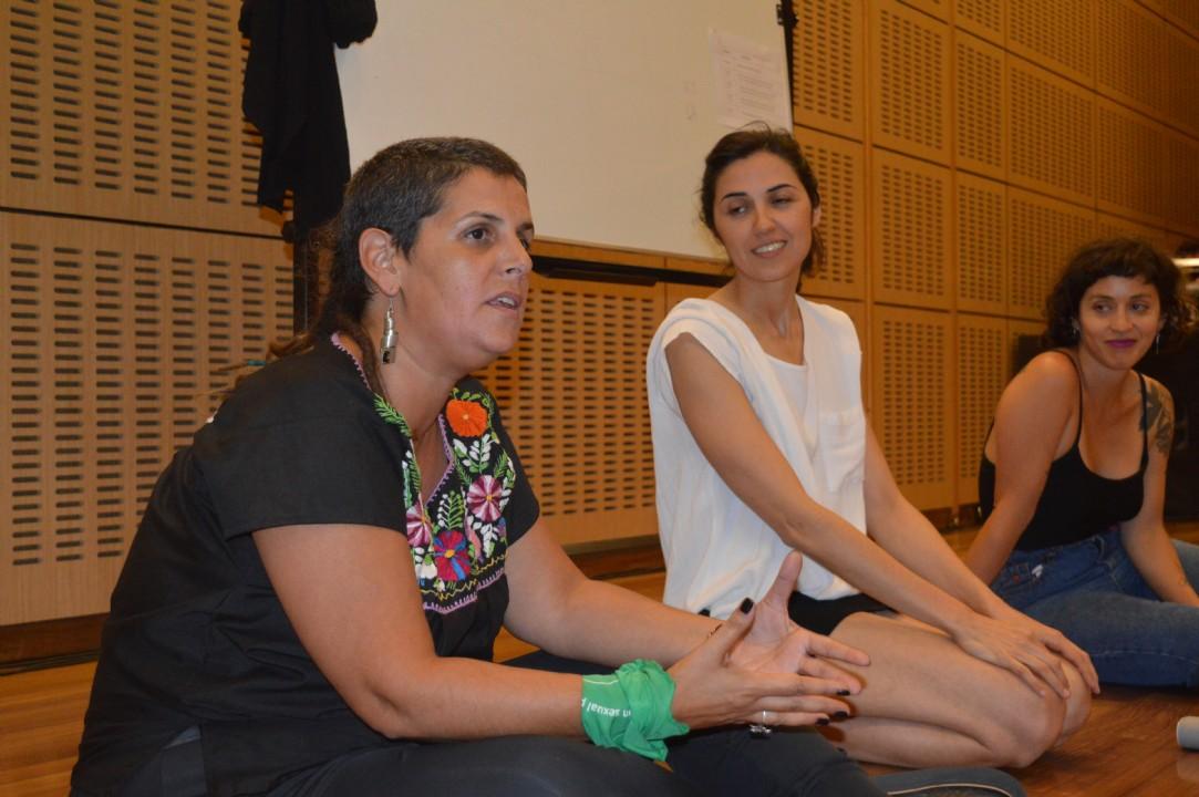 Romina Chiesa en el Taller de Cooperativismo en Diseño