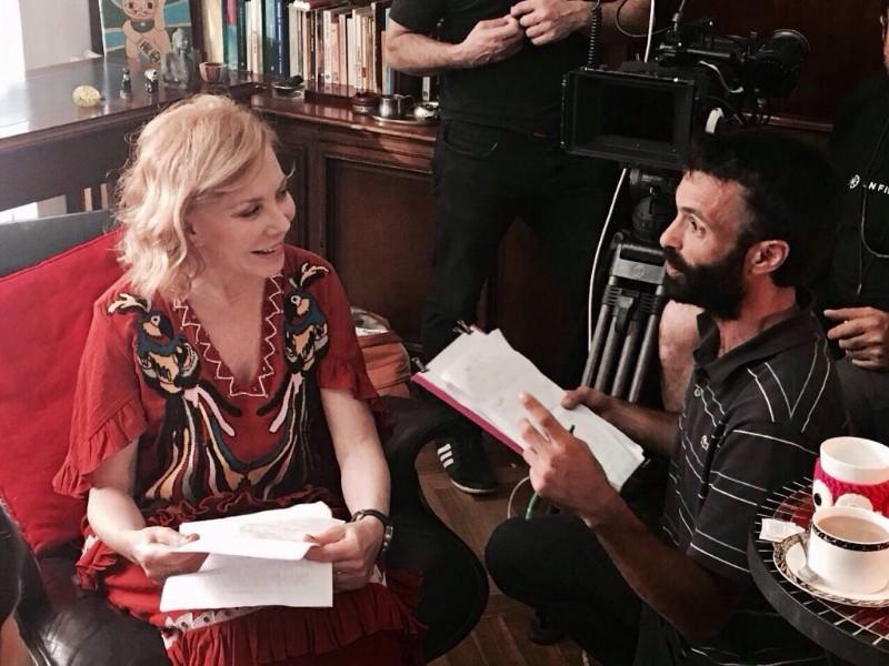 La actríz Cecilia Roth y el Director Sebastián Sorín intercambiando opiniones