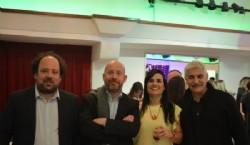 Con los destacados diseñadores Juan Shakespear, Lorenzo Shakespear y el empresario platense Flavio Mammini