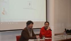 El director de la Casa Curutchet Arq. Julio Santana, José Martínez Suarez y Luis Bernández. Foto Dopler. Todos los derechos reservados